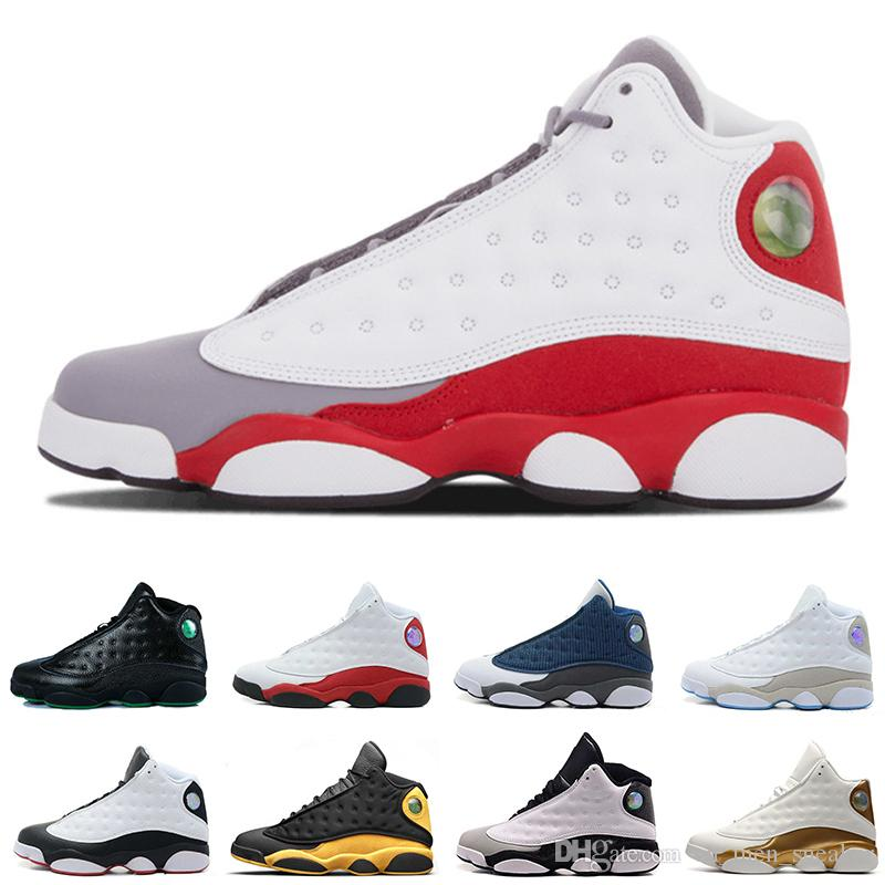 wholesale dealer 95192 4a67a Cheap New 13 13s mens basketball shoes Melo class of 2002 Bred Red Grey Toe  sneakers women sports trainers running shoes for men designer