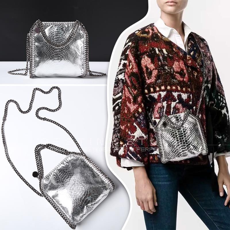 Luxury Stella Falabella MC Shaggy Deer SLIVER golden black Serpentine  Crossbody Flap Bag Shaggy Deer Bag Online with  103.0 Piece on  Junjietrade168 s Store ... 55b0573af6149