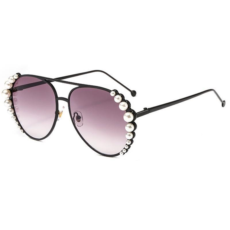 De Blancas Para Redondo Mujer Marco Espejo Marca Oval Sol Rosa Tonos Perlas 2018 Gafas Metal Lujo Aleación dtsChrQ