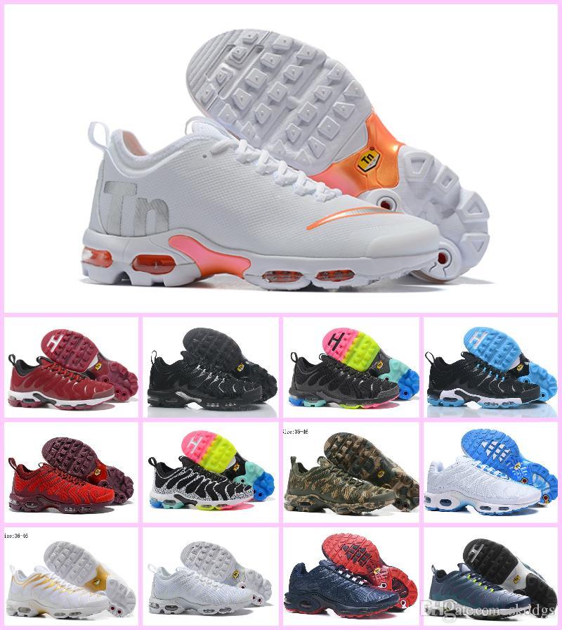 1b9238360606f Fast Shipping Original TN Air Mens Hombres Zapatillas Air Tn Plus Ultra Running  Shoes Top Chaussure TN Requin Noir Sports Casual Shoes 36-46 Tn Shoes Air  Tn ...