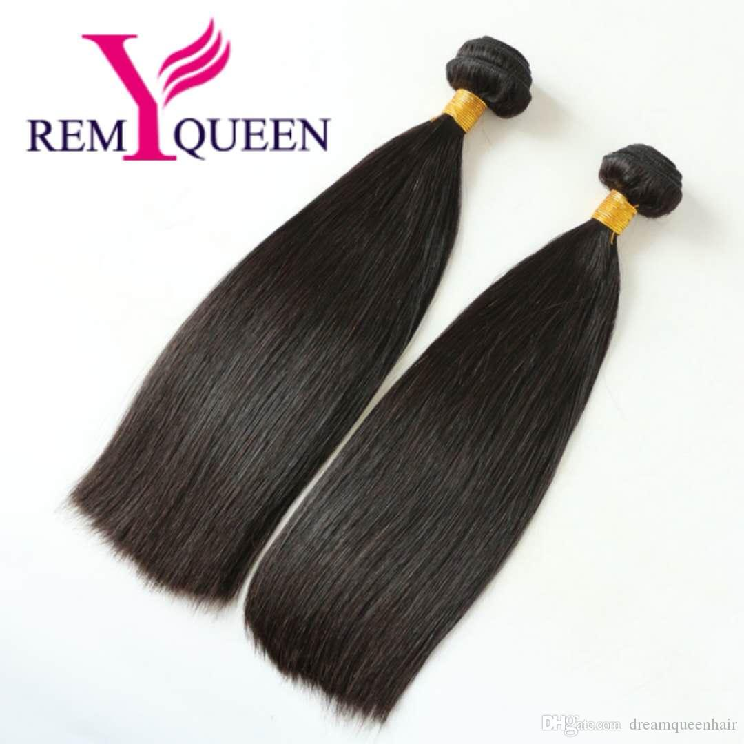 Remy Queen 8 A Brazilian Virgin Double Drawn Hair Bundle Extension For Black Women Human Hair
