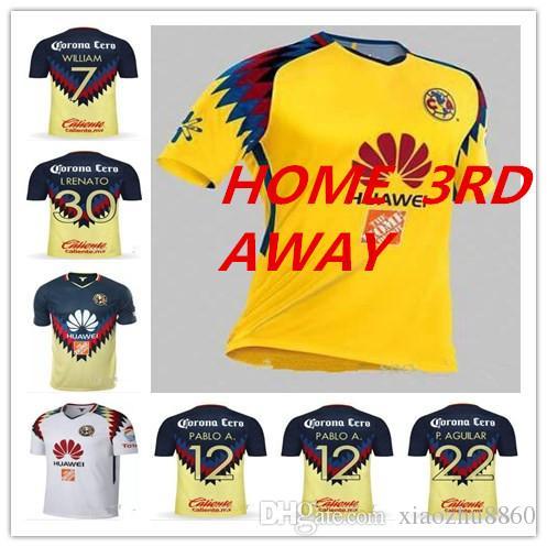 806e01057 Best Quality New 2018 LIGA MX Club America Third Soccer Jerseys Home ...