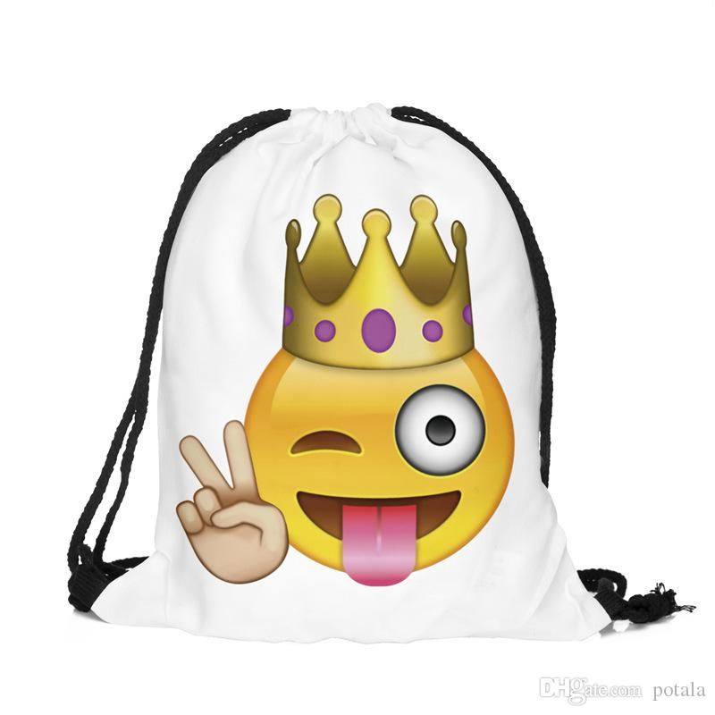 2584a3c3a Emoji Drawstring Backpack Bags Pack Of 39*33.5CM Assorted Emoticon Back To  School Bags Kids&Adults Party Favors Supplies Stuff Gift Pandas Canada 2019  From ...