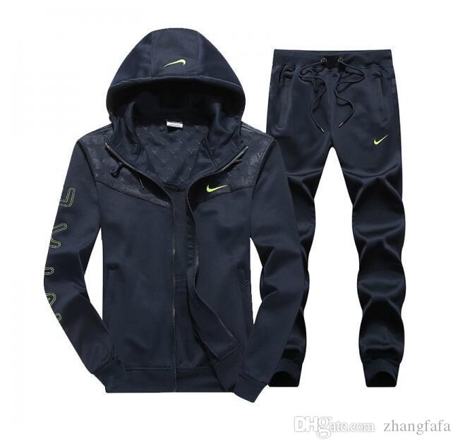 hot sale online 3db28 f621f NIKE 2018 Brand Tracksuits Men Leisure Sport Suit Luxury Men s Sportswear  design Jogger Set Cool Sweatshirt free shipping