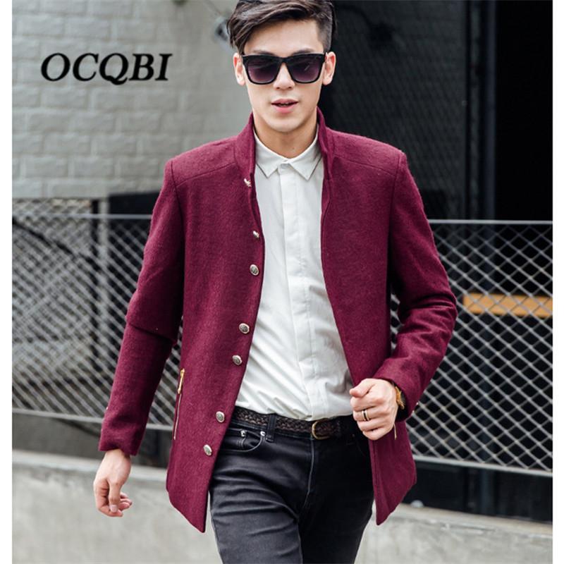 0491db418299 2019 Plus Size 2018 Slim Smart Casual Wool Mens Clothing Overcoats Fashion Winter  Dress Coat Mens Korean Style From Beke, $122.19 | DHgate.Com