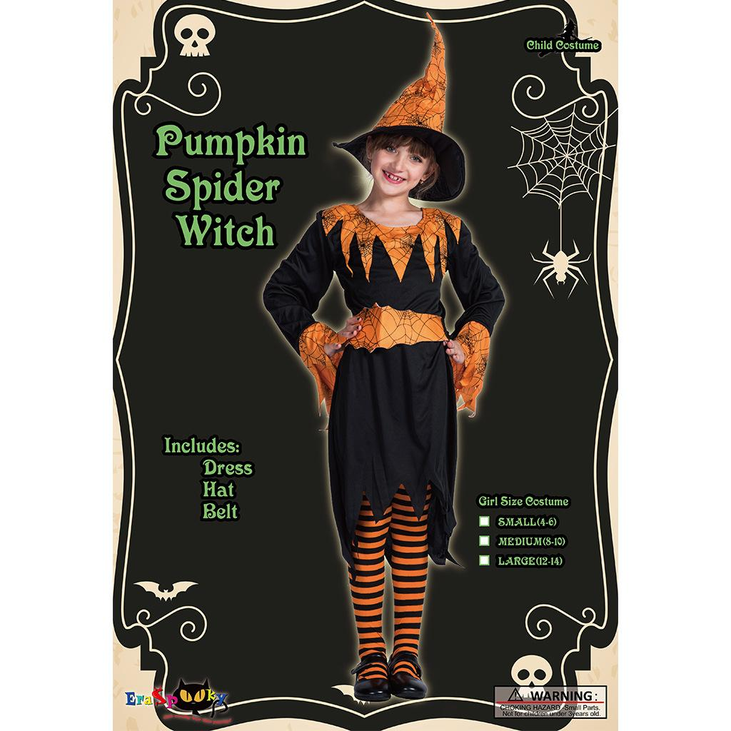 f00bde5f2ff12 Halloween Pumpkin Spider Witches Cosplay Child Costume Cute Dress Suit For  Sale Halloween Costume Child Costume Witches Cosplay Online with  $17.15/Piece on ...