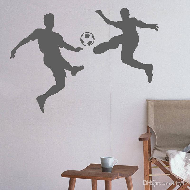 New Soccer Players Football Wall Stickers Wall Decal For Kids Room Sport Football Sticker Boy Bedroom Mural Home Decor