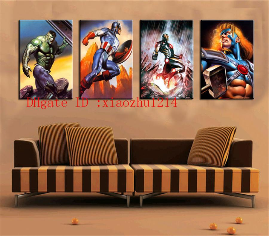 2018 The Avengers Home Decor Hd Printed Modern Art Painting On Canvas  Unframed Framed From Xiaozhu1214