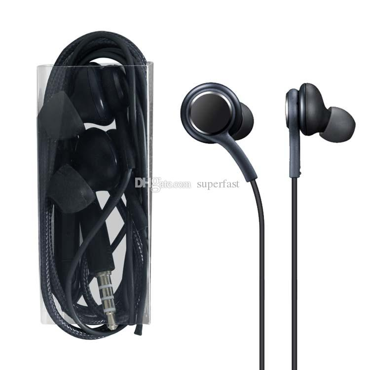 In-Ear S8 Earphones Bass Headsets Stereo Sound Headphones OEM Earbuds With Volume Control For Samsung Galaxy S8 Plus S7 S6 Edge No Package