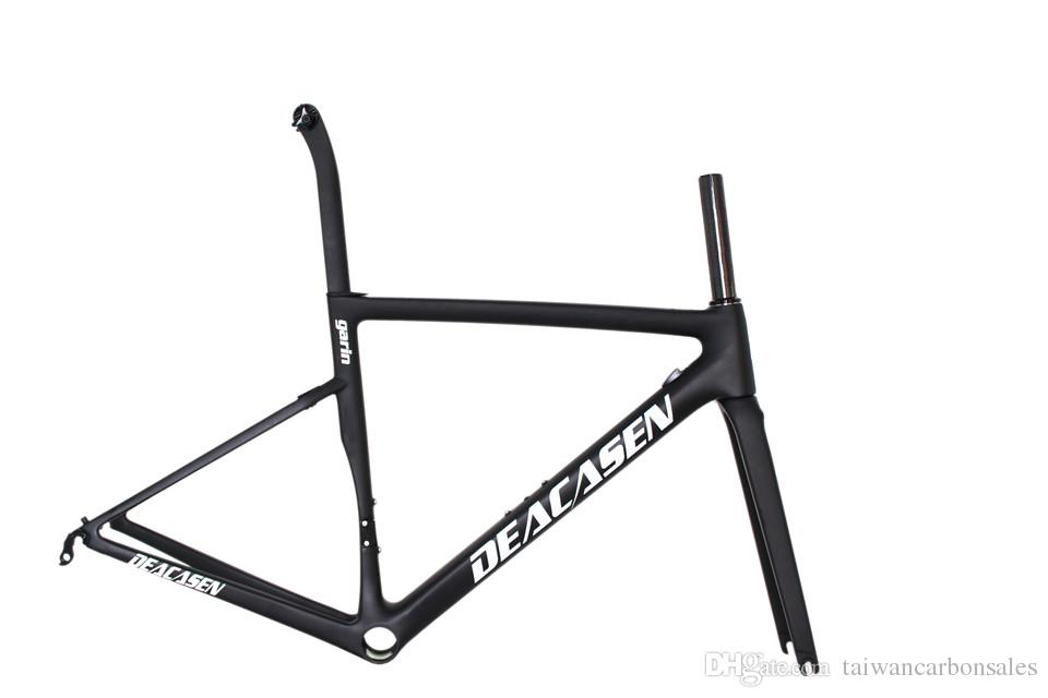 Matte Carbon Road Frame Can Diy And Customzied Bike Frame Fork Weiht ...