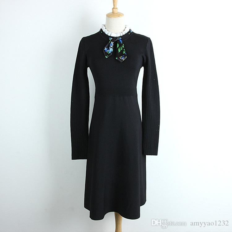 91210112753c72 2019 729 New Arrival 2018 Autumn Crew Neck Sweater Dress Kints Long Sleeve  Brand SAme Style Black Womens Clothes Luxury DL From Amyyao1232, $50.16 |  DHgate.