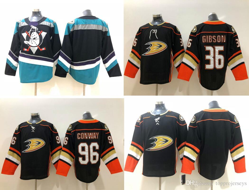 2018 New Anaheim Ducks  36 John Gibson 96 Charlie Conway  15 Ryan Getzlaf  Vintage Mens Ice Hockey Shirts Sports Jerseys Stitched Embroidery UK 2019  From ... 3833c8df7c