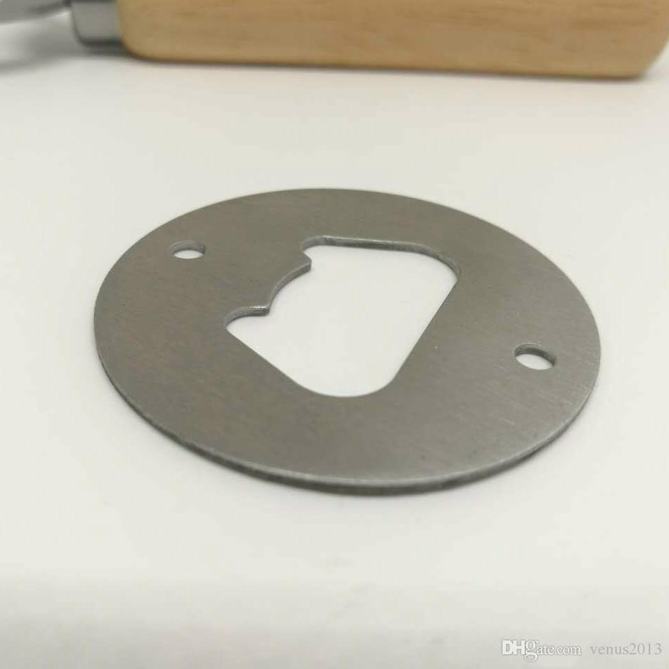 2 نمط الفولاذ المقاوم للصدأ فتاحة زجاجات جزء مع ثقوب غاطسة مستديرة أو مخصصة على شكل معدن قوي مصقول فتحت زجاجة إدراج أجزاء