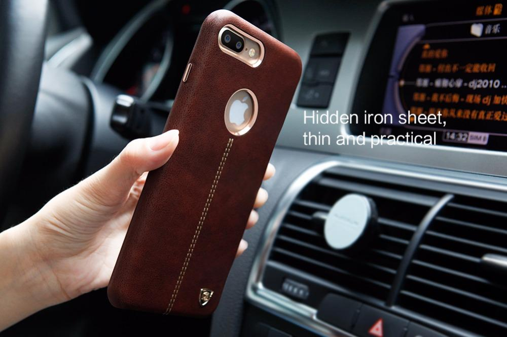 outlet store 395ec fd889 Nillkin Englon Cute For Iphone 7 Plus Case Pu Leather Vintage Back Cover  For Iphone 7plus Case Work With Magnetic Phone Holder