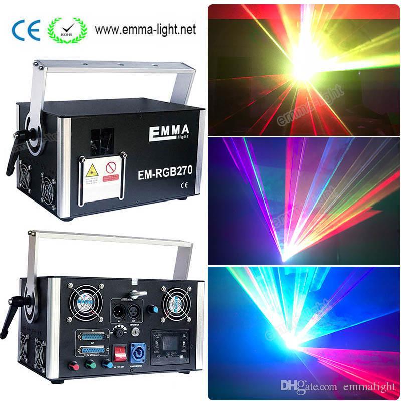 High Power Advertising Laser dmx 512 laser 5w analog full color Ilda Rgb  Animation 3d Laser DIY Logo Projector