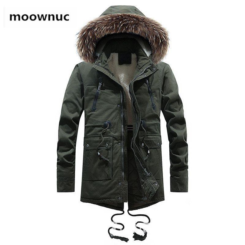 a9484e9acd Parka Mens Coats Winter Jacket Uomo Slim fit Cappotto Cappotto termico con  cappuccio Cappotto casual da uomo Giacca imbottita in cotone