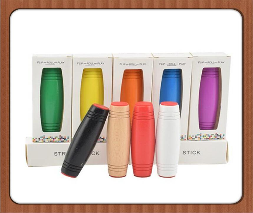 Venta al por menor MOKURU Rollver Desktop Flip Fidget Stick Aliviar el estrés Mejorar el enfoque Juguetes divertidos Descompresión Juguetes de madera KidsAdult Finger Toys