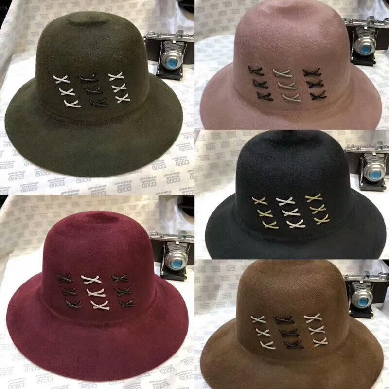 c5ce557c44a 2019 New Lady Winter Hat Luxury Women Brand Designer Wool Cashmere Cloches  Bucket Hat Top Quality Warm Female Elegant Top Hat Stingy Brim Hats From ...