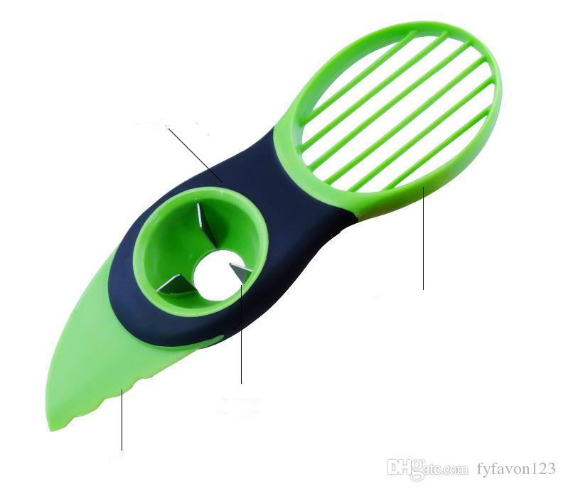 Hot Portble 3-in-1 Safety Avocado Slicer Corer Plastic Fruit Pitter Cooking Tools Durable Blade Kitchen Accessories A116
