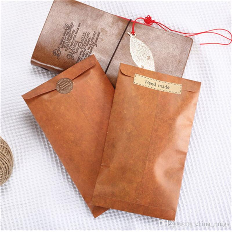 New Creative European Style Vintage Kraft Paper Envelope For Postcard Novelty Item Kids Gift Stationery Student