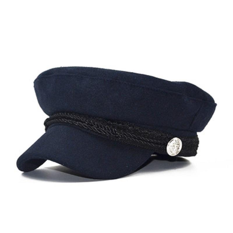 58712533ea141 Compre Boinas De Lana Sombreros Otoño Invierno Para Mujeres Dama Niñas  Vintage Patchwork Militar Casquillo Octagonal Boinas Inglaterra Estilo Sun  Hat DHL ...