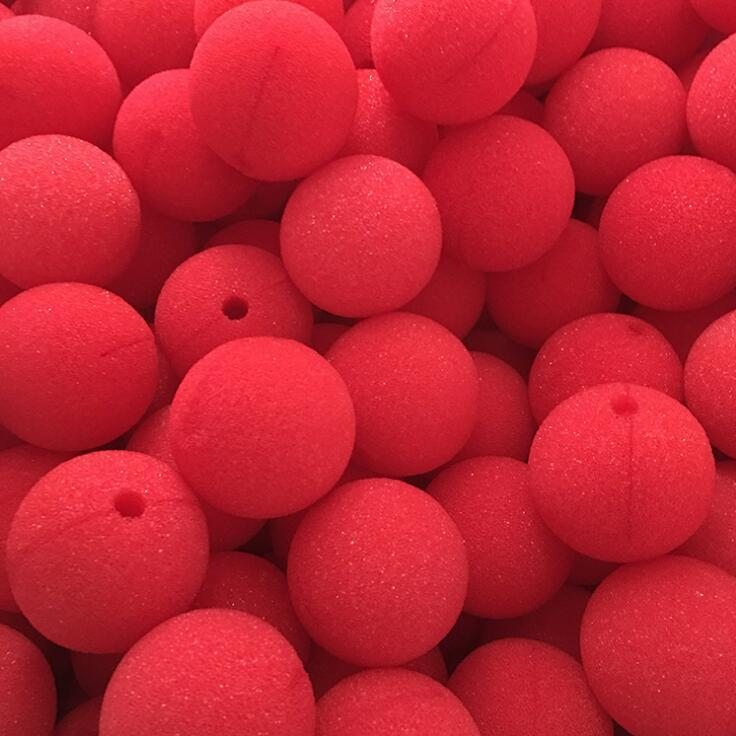 Clown nose toy Decoration Sponge Ball Red Clown Magic Nose for Halloween Masquerade Decoration