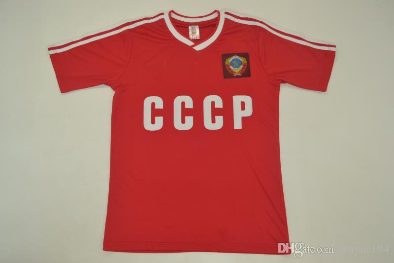 save off cce41 72159 1986-87 USSR home red Shirt CCCP Soviet Union retro jerseys rugby jerseys  Igor Belanov vantage classic shirt