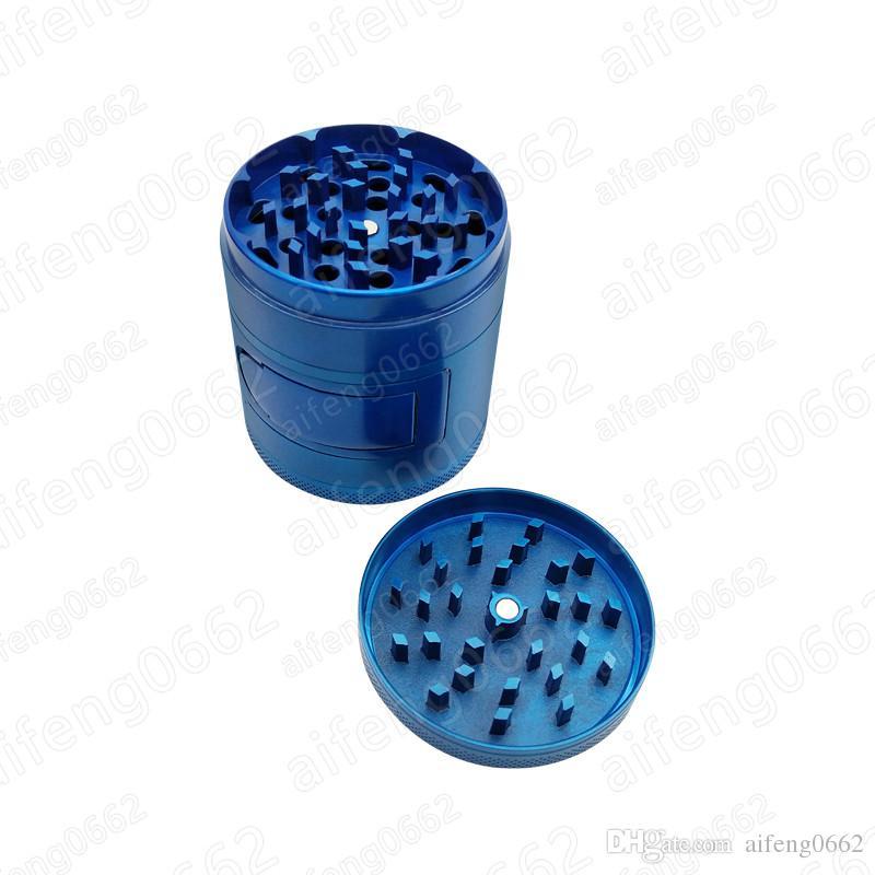 Metal Erva Seca 63mm 4 camadas Moedores de Fumar Moedor de Tabaco de Diamante Dentes Herbal Spice Moinho Moedor Triturador