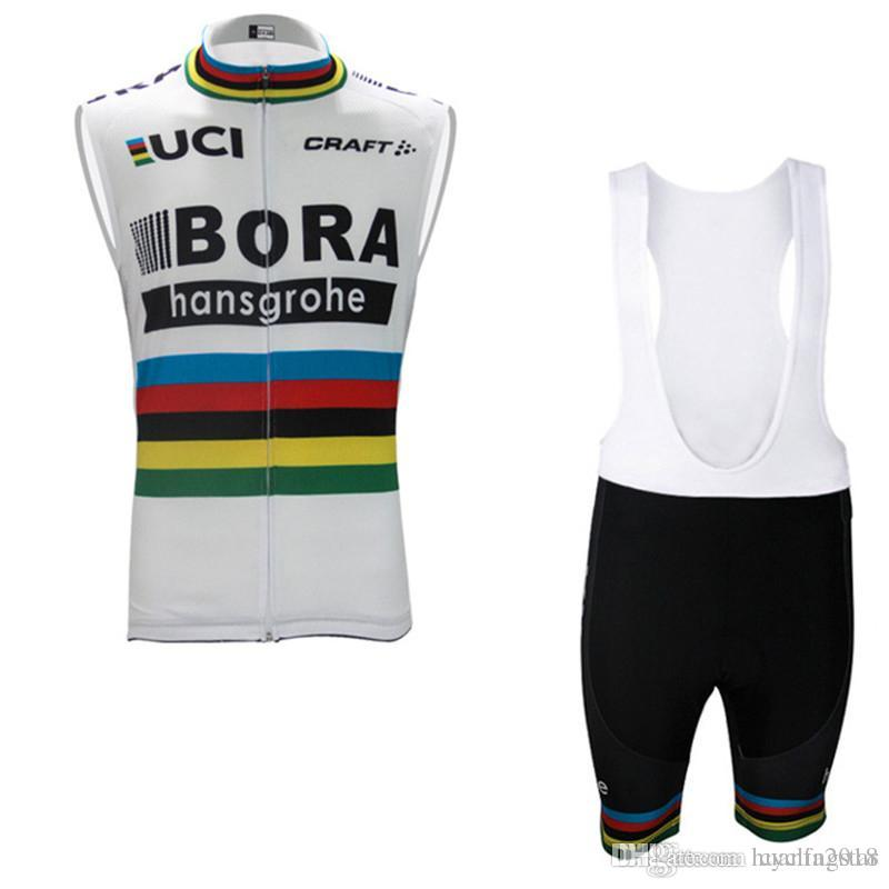 Pro Team Bora Cycling Jersey Summer Sleeveless MTB Ropa Ciclismo Breathable  Quick Dry Bicycle Maillot Men Cycling Vest Set D0803 Cycling Jerseys Ropa  ... 79db9141b