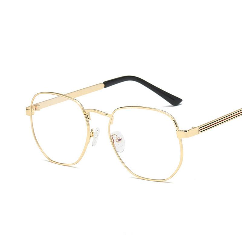78bf102f72d3 2019 Vazrobe Polygon Glasses Frame Men Women Gold Silver Eyeglasses Male  Diopter Myopia Optical Prescription Spectacles Eyewear Metal From Cukojew,  ...