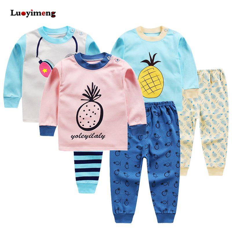 0eadb3f81 Kids Sleepwear Long Sleeve Pajama Sets Autumn Winter Baby Girls Clothes Set  Cartoon Baby Clothing Cotton Pajamas For Boys Kids Summer Pjs Pyjamas Kids  From ...