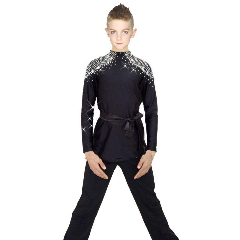 d0cff85f1c3b 2019 2018 New Ballroom Latin Dance Shirts Kids Boys Men Korean Velvet Long  Sleeve Adult Performance Clothing Competition Tops DN1579 From Honey333, ...