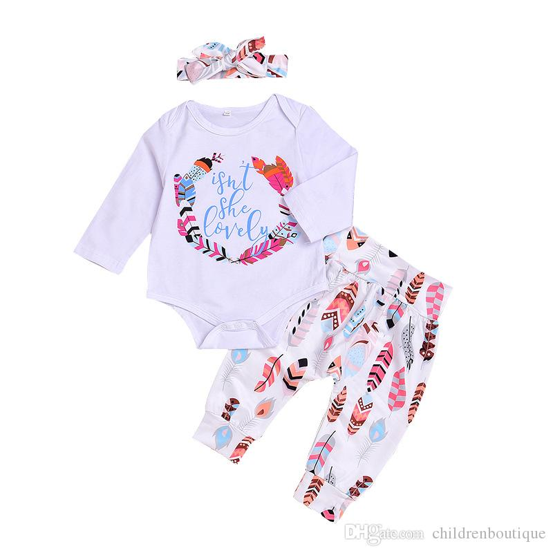 0c45ca96abfe 2019 2018 Spring Baby Girl Clothes Set Full Sleeve O Neck Printed ...