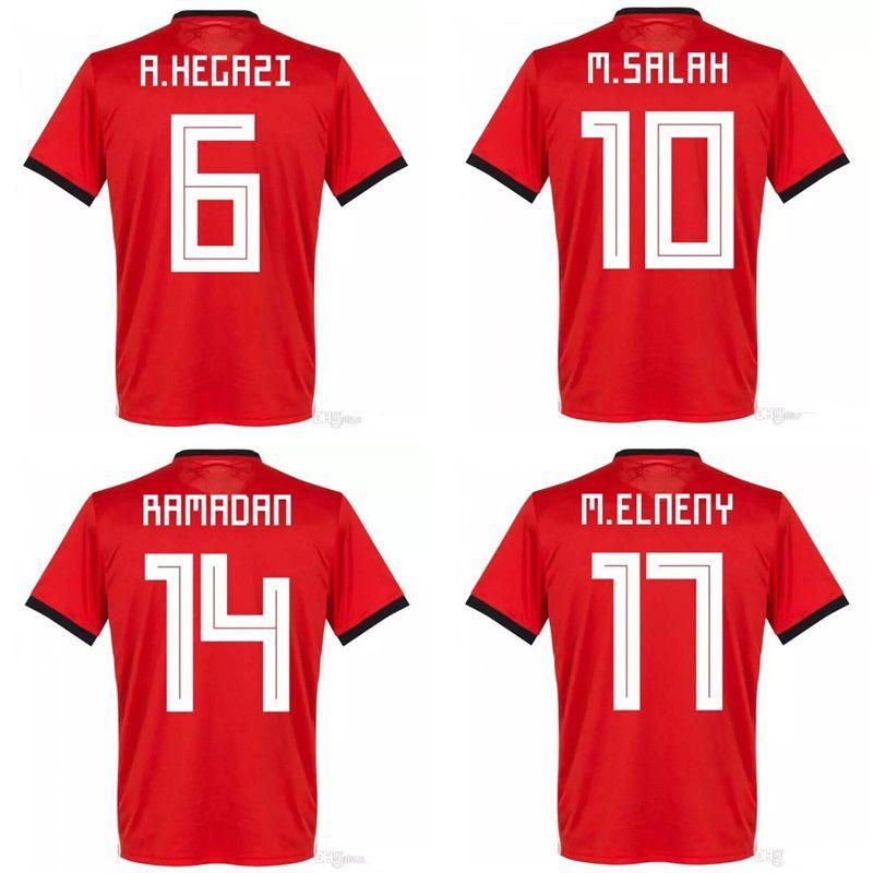 1ce1c7698 2019 Thai 2018 World Cup Egypt Soccer Jerseys 2019 M. SALAH Football ...