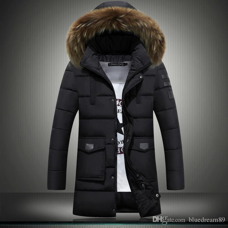 89c94b49b New Mens Winter Jackets Coats Youth Korean Version Slim Thicken ...