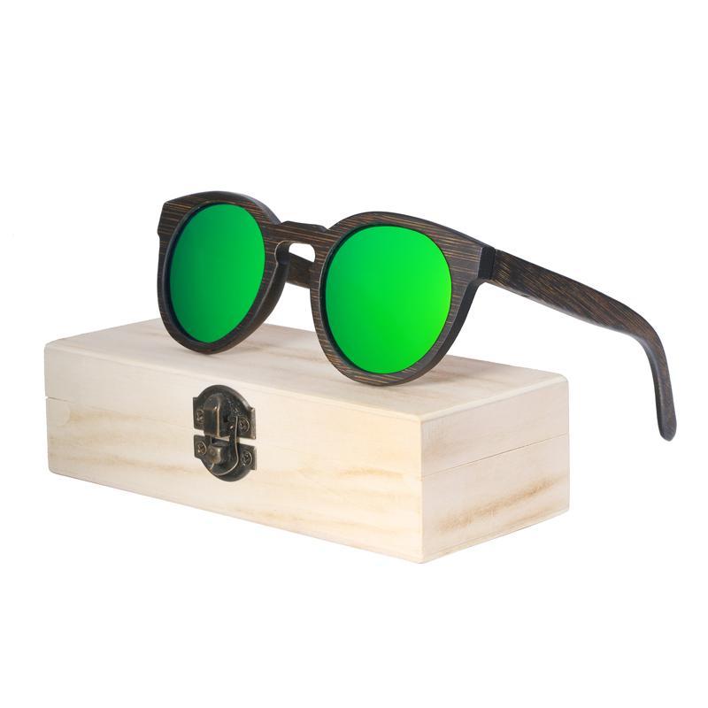 9f0527a4bf753 BerWer Vintage Bamboo Wooden Sunglasses Handmade Polarized Mirror Fashion  Eyewear Sport Glasses In Wood Box Discount Sunglasses Sports Sunglasses  From Gunot ...