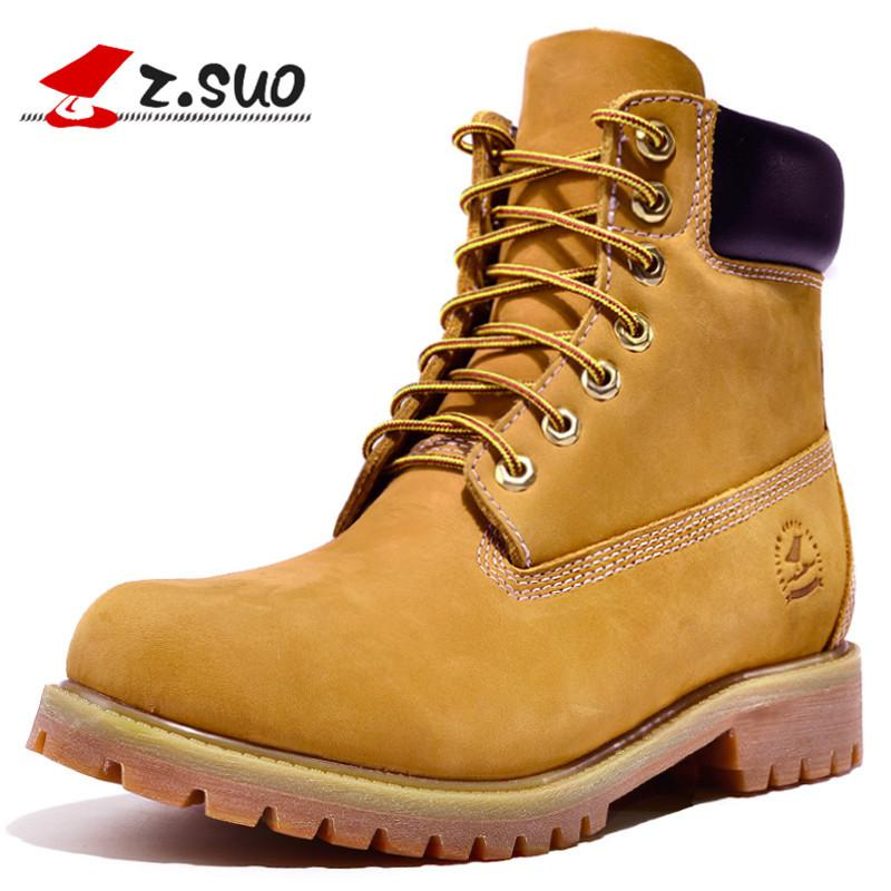 Z.SUO Genuine Leather Men Boots Ankle Boots New England Martin Shoes Men  Fashion Shoes Autumn And Winter Skechers Boots Mid Calf Boots From  Beasy111 8d07ba77967d
