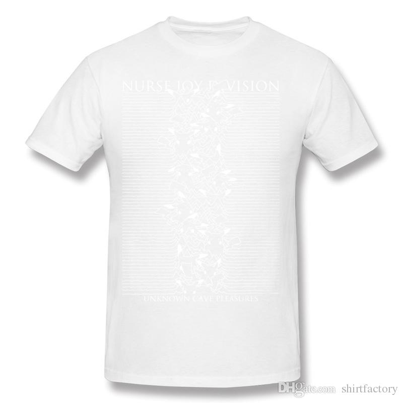 Neueste Hombre 100% Baumwolle Krankenschwester Joy Division T-Shirt Hombre Crewneck Beige Shorts T-Shirt zum Verkauf plus Größe gedruckt auf T-Shirt