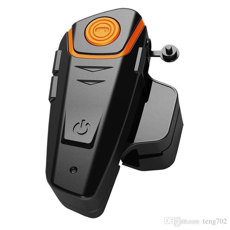 Motorcycle Bluetooth headset Wholesale- Waterproof 100% Motorcycle Helmet Intercom BT-S2 Moto Bluetooth Interphone Headset with FM function