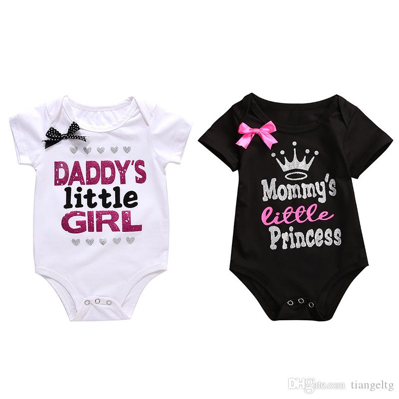a0684258ff4 Baby Bronzing Rompers Letters Printed Summer 100% Cotton Jumpsuit Girls  MUMMY S LITTLE PRICESS Short Sleeve Top Tee 0-18M Bronzing Romper Girls  Romper Boy ...