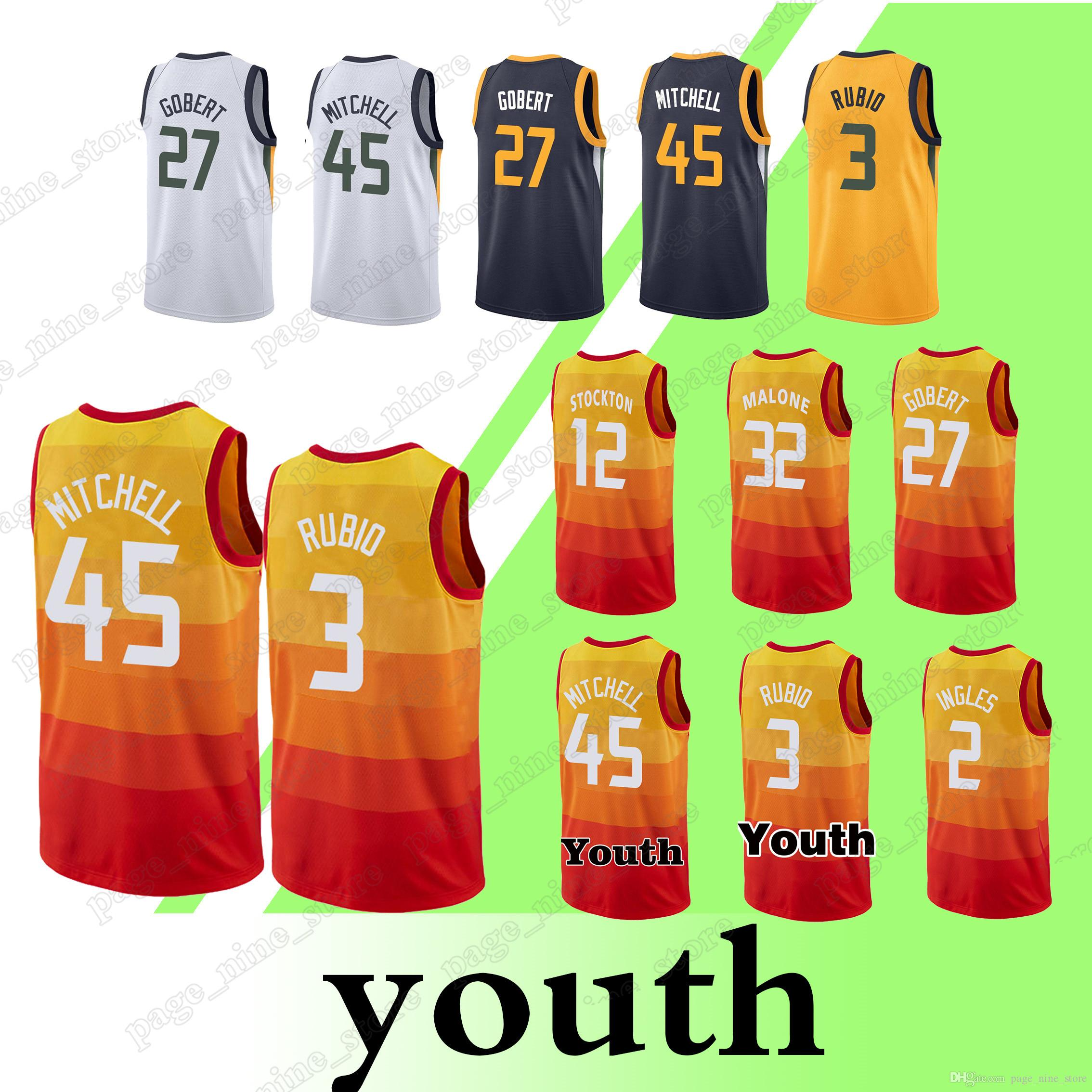 2018 45 Donovan Mitchell Jerseys 3 Ricky Rubio 24 Grayson Allen 27 Rudy  Gobert 2 Joe Ingles Top Quality Jersey From Page nine store 87712dd15
