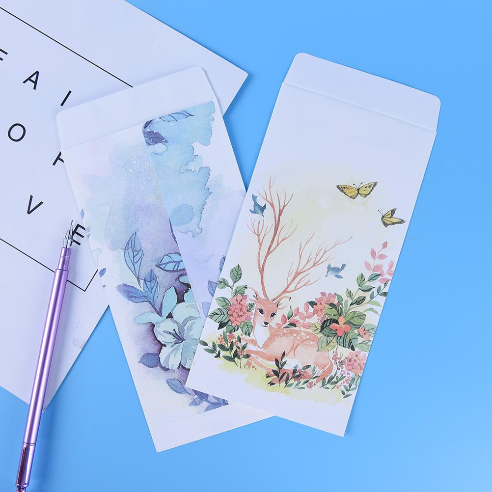 2018 Christmas Gift Deer White Craft Paper Envelopes For Card ...