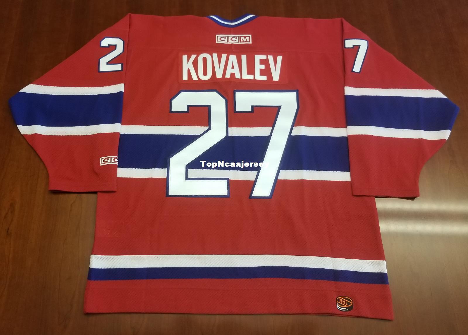 check out e821b 89e63 Wholesale Alex Kovalev Vintage Montreal Canadiens CCM Cheap Hockey Jersey  Red Habs Mens Retro Jerseys