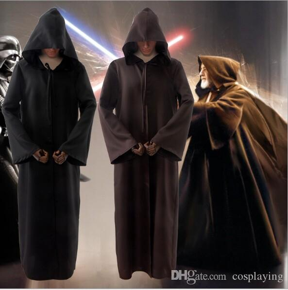 Cos Jedi Knight Mantel Männer Cosplay Kostüme Erwachsene Halloween Kostüm Kap Performance Robe Kostüme Männer Großhandel