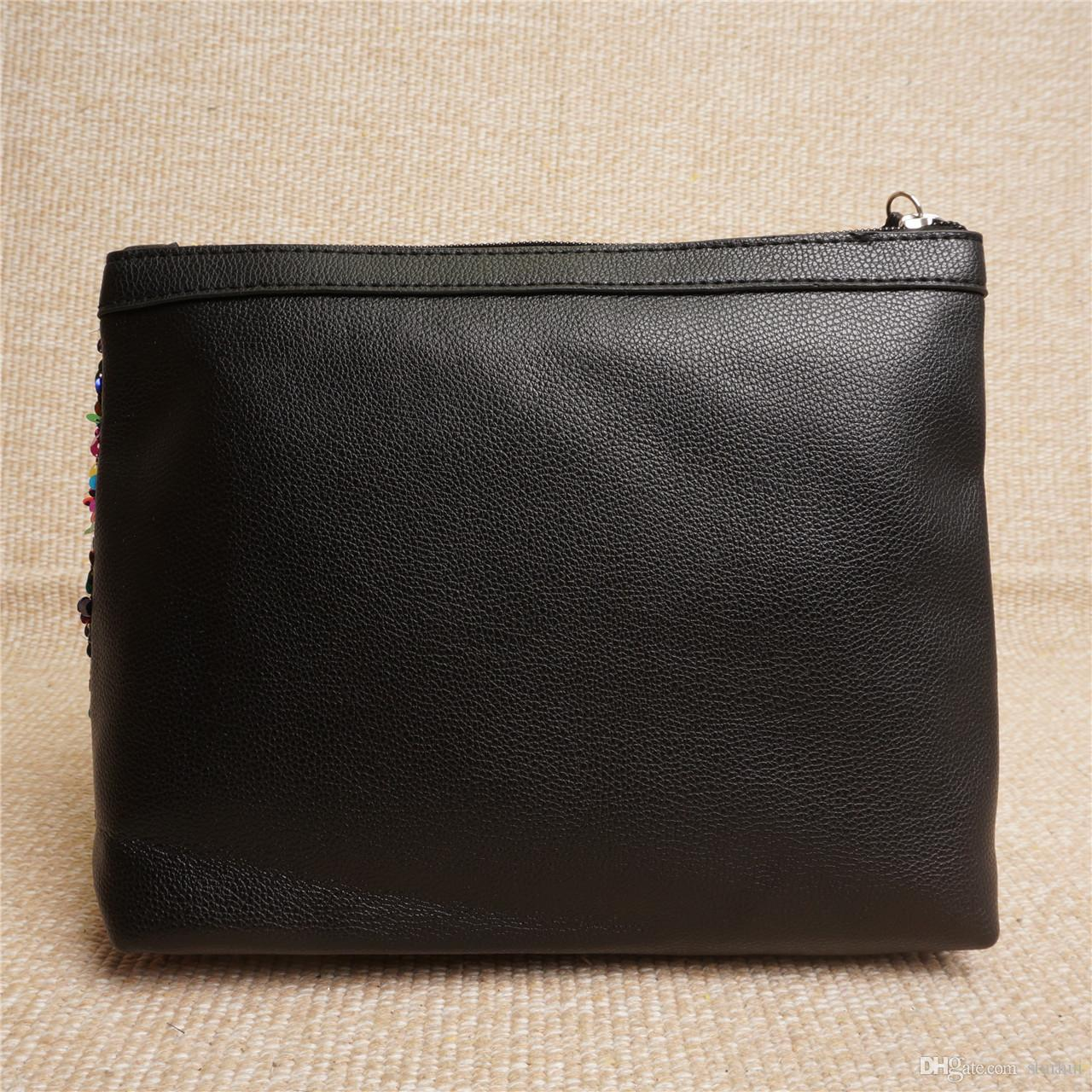 Di lusso di trucco Paillettes immagazzinaggio del sacchetto le donne Cosmetic Mermaid frizione borsa Homepage Monete Organizzazione bagagli WX9-362
