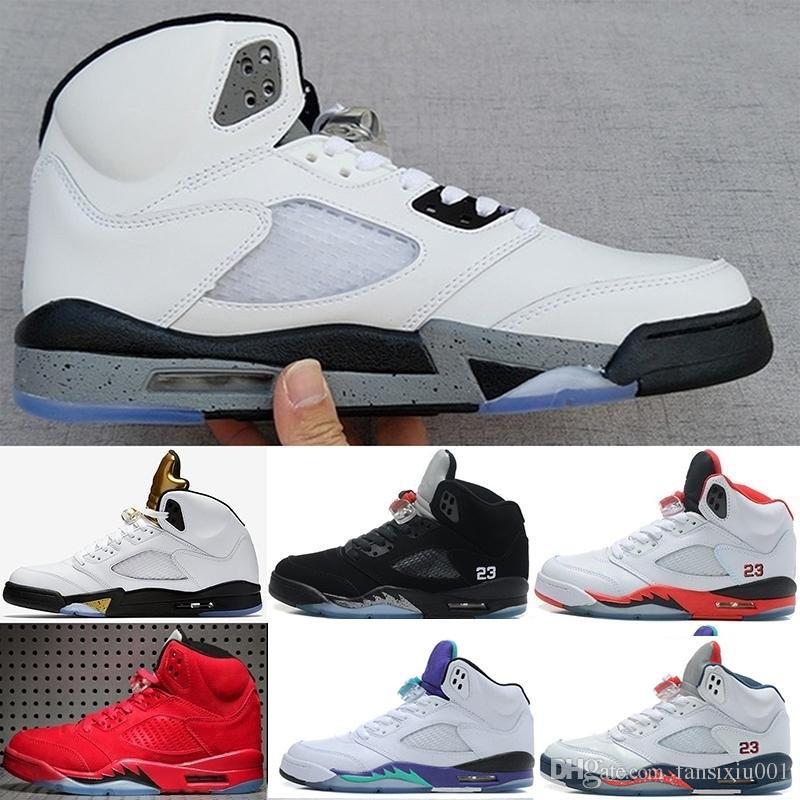 931026c6a49e Compre Nike Air Jordan Retro Envío Gratis Barato Nuevo 5 V 5s Bajo Espacio  3 M Efecto Reflexivo Cemento Gris Hombres Zapatos De Baloncesto Zapatos ...