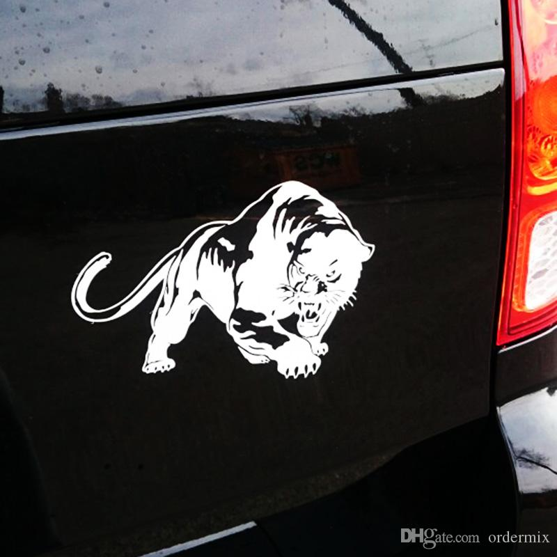 19.5*13.5CM 3D Fiery Wild Panther Hunting Car Body Decal Motorcycle Stickers Motorbike Decoration Accessories & Parts