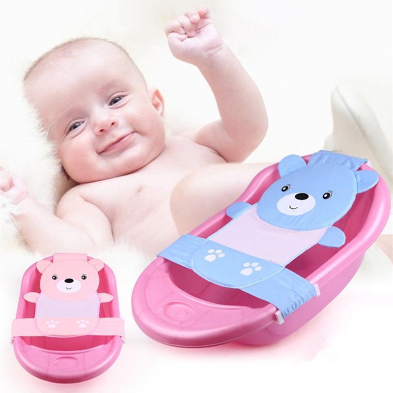 2019 cute cartoon adjustable baby bathtubs newborn bath net safety