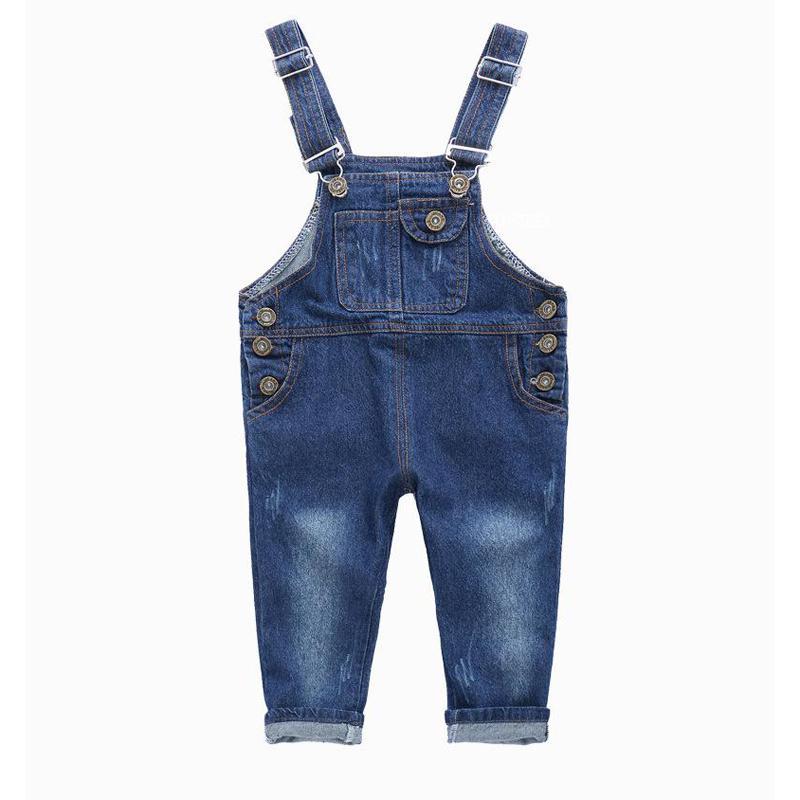 480274fcaf Compre Moda Para Niños Mono De Mezclilla 2 3 4 5 6 7 8 9 Años Niños Monos  Jeans Primavera Verano Otoño Niños Niñas Pantalones Vaqueros Y18103008 A   28.57 ...