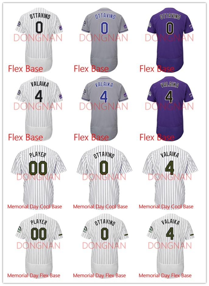 size 40 0c753 7b9c0 0 Adam Ottavino 4 Pat Valaika Jersey Flex Base/Memorial Day Cool  Base/Memorial Day Flex Base jersey